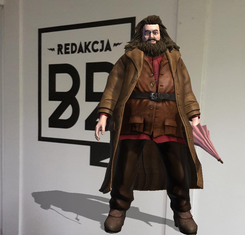 Hagrid, a w tle logo redakcjiBB